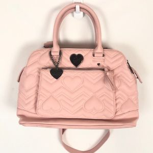 Betsey Johnson Quilted Mauve Pink Crossbody Purse
